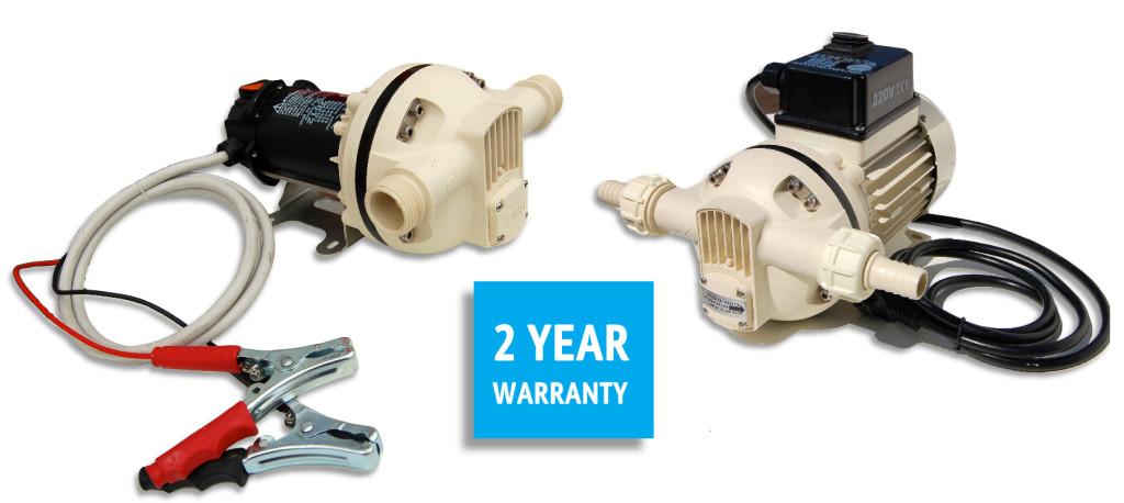 Electric 12 volt and 240 volt Adblue pumps