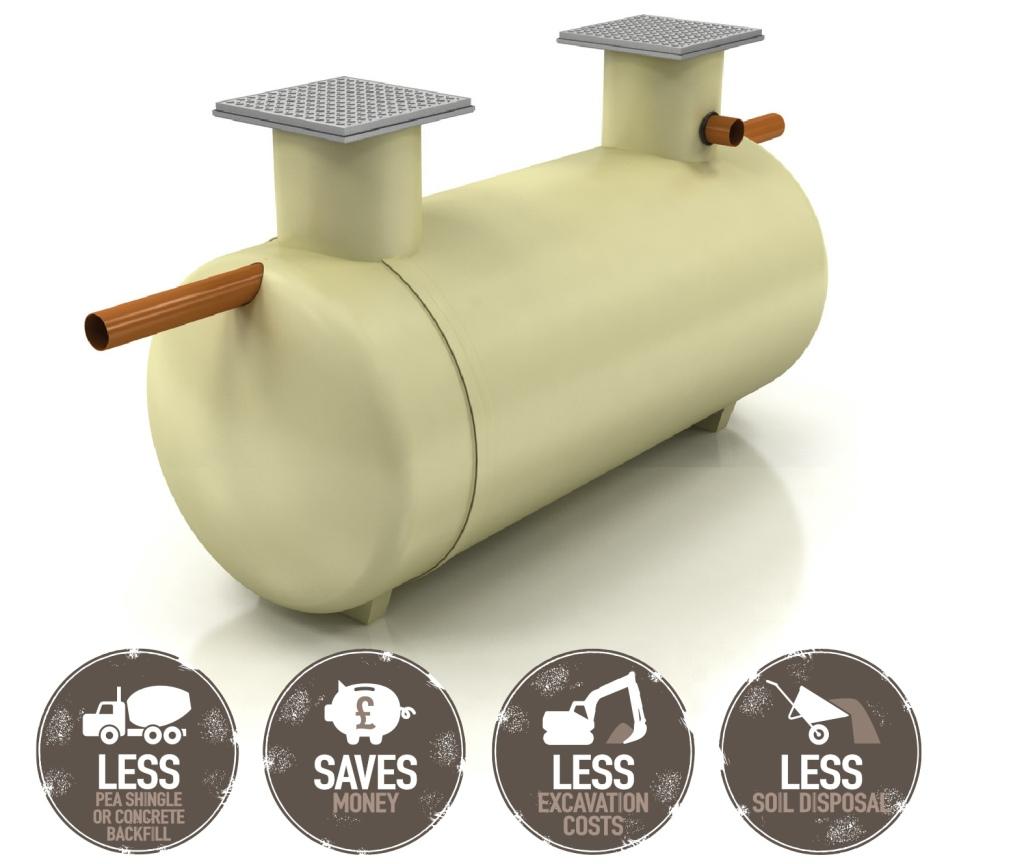 shallow dig septic tank