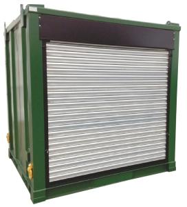 Steel bunded diesel tank c/w roller shutter door HQ