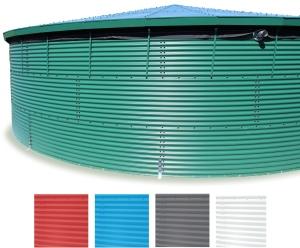 Megastor Corrugated steel Water Storage tank finishes