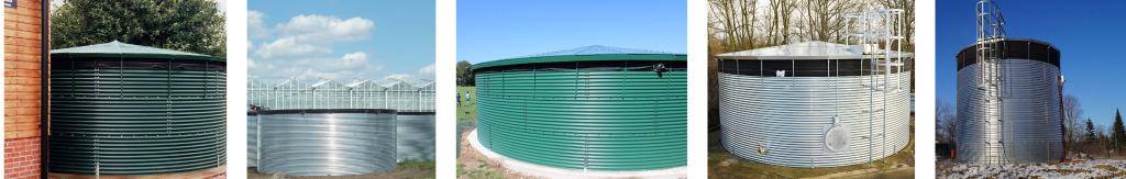 Corrugated steel Water sTorage tank range